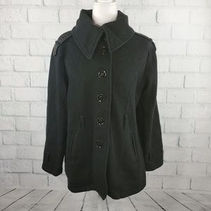 Sebby Collection - cozy black open front coat